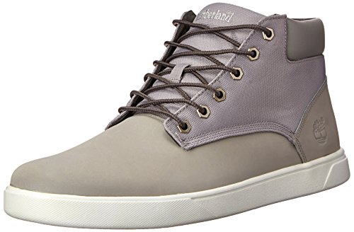 Timberland Groveton 8 CHK Men US Grey Canvas Nubuck M Wheat and Men's Boot Casual PT Canvas r5qrxv4