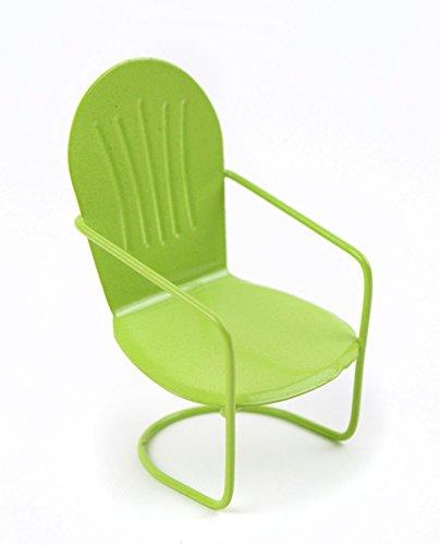 Touch of Nature Miniature Garden Glider Chair, Pastel Green, 3-Inch