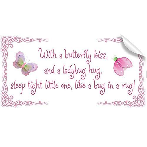With A Butterfly Kiss Ladybug Hug Sleep Tight Little One Lik