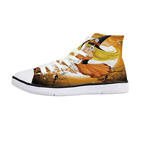 Halloween Decorations Comfortable High Top Canvas ShoesCute Sexy
