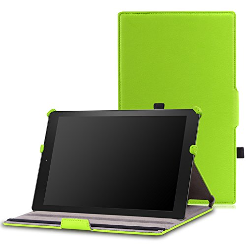 MoKo Case for Fire HD 10 Tablet (5th Generation, 2015 Release) - Slim-Fit Multi-Angle Folio Cover Case with Auto Wake/Sleep for Amazon Fire HD 10.1 Inch Tablet, - Multi Generations Green