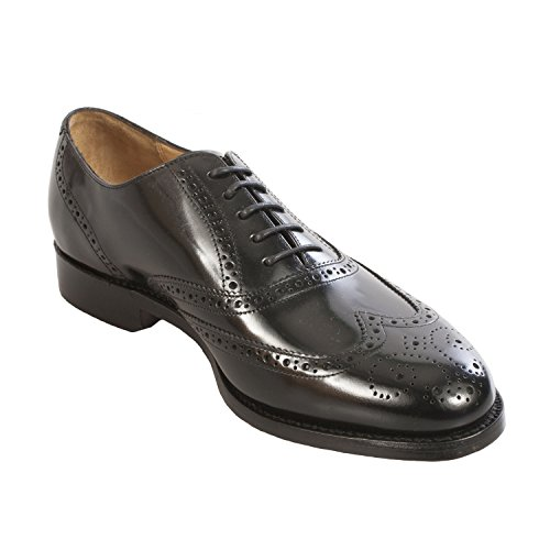 Barker, Mannen Lace Up Brogues Leeg Zwart
