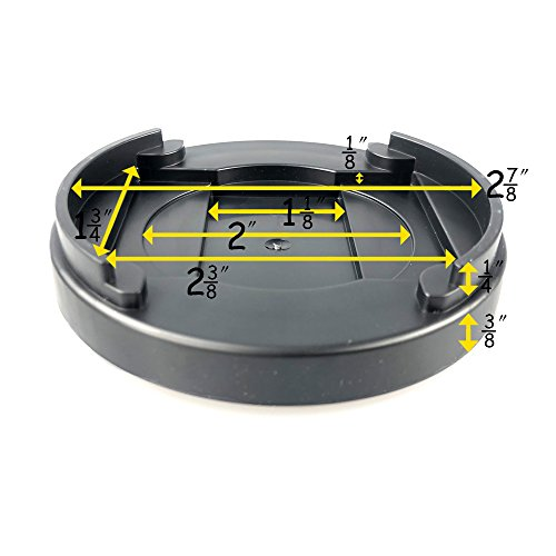Aspeike Set of 4 Black Lifts for Bed Frame 1 Inch Round Anti-Slip Bed Risers, Furniture Risers or Table Risers or Chair Risers, Adds 1/2 inch Height to Furniture or Beds by Aspeike (Image #3)