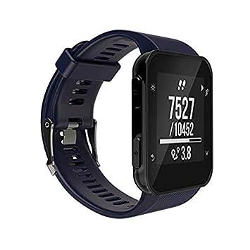 SUNEVEN Garmin Forerunner 35 Correa de Reloj GPS, Correa de Silicona de Repuesto para Reloj Garmin Forerunner 35 GPS, Color Azul: Amazon.es: Deportes y aire ...