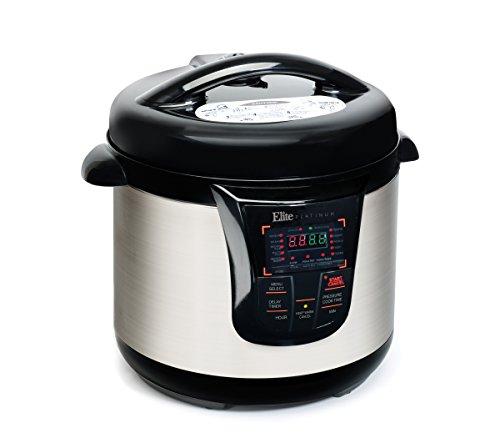 Elite Platinum EPC-808 Maxi-Matic 8 Quart Electric Pressure Cooker, Black (Non-Stick)