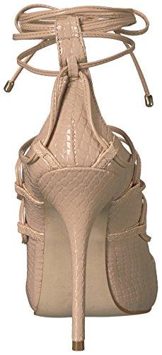 Steve Madden Womens Roxie Dress Sandal Nude Snake