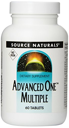 SOURCE NATURALS Advanced One Multiple, No Iron Tablet, 60 Count