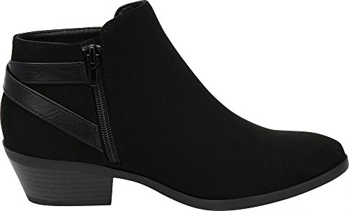 Women's Cambridge Cowboy Ankle Select Heel Stacked Buckle Bootie Imsu Black Western Strappy 5rt5wq