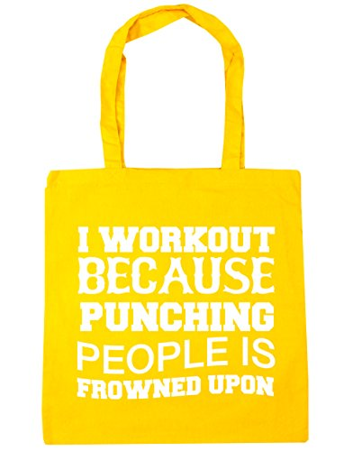 frowned Shopping Tote I 10 litres workout Gym Beach HippoWarehouse x38cm 42cm Yellow punching Bag because people is upon SYxwqz