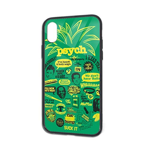 Shock-Absorption Psych Pineapple Quote Mash Up Soft Silicone TPU Phone Case for iPhone X iPhone Xs -