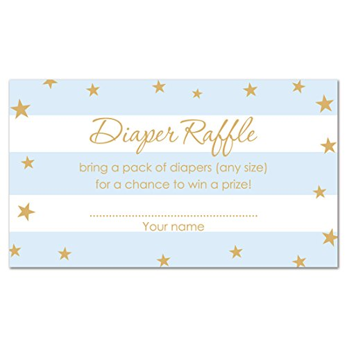 48 Twinkle Twinkle Little Star Diaper Raffles (Blue)
