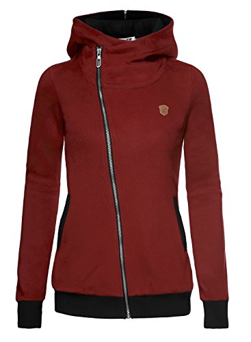 DJT Womens Oblique Zip up Casual