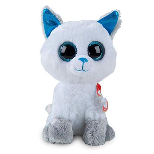 (SJSXT 15cm Frost Arctic Fox Plush Soft Big-Eyed Stuffed Animal Collectible Doll Toy with Heart Tag)