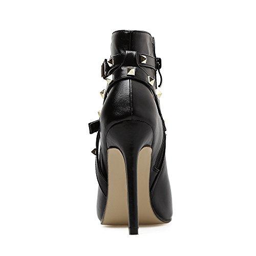 tacchi stivali Fibbia cinghia i scarpe scarpe cintura 39 della Roma cool i fibbia ZHZNVX con nero con di tacchi di sicurezza alti rivetto della alti romano sandali 86q0ndWS