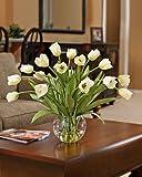 Abundance of Tulips Silk Centerpiece - Cream