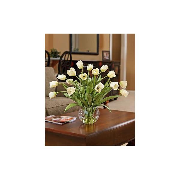 Petals Abundance of Tulips Silk Centerpiece – Cream