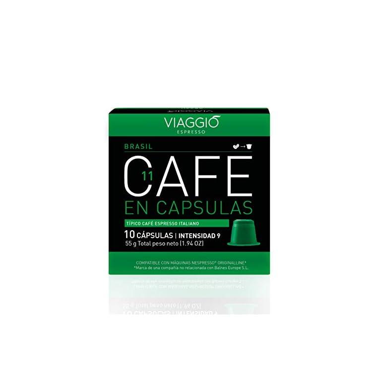Viaggio Espresso Cápsulas de café compatibles con máquinas Nespresso Brasil (60 Cápsulas)