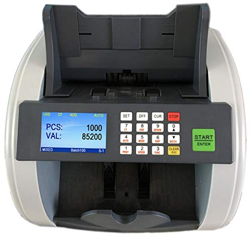 Bank Grade Bill Counter Mixed Denomination Currency Counterfeit Machine See Video