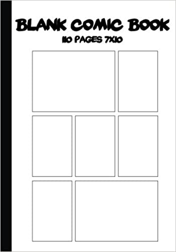 Blank Comic Strip : Blank Comic Book - 7 X10 With 7 Panel(Multi