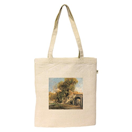 Harnham Gate, Salisbury (Constable) Hemp/Cotton Flat Market Bag - Shopping Salisbury