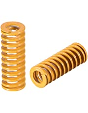uxcell 8mm OD 20mm Long Spiral Stamping Light Load Compression Mould Die Spring 10Pcs