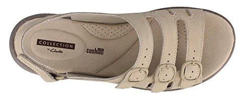 Clarks Quartz Nubuck Saylie Sandal Women's Sand ggwZqW46