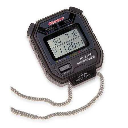 Westward 6JG70 Digital Stopwatch, Multiline LCD by Westward