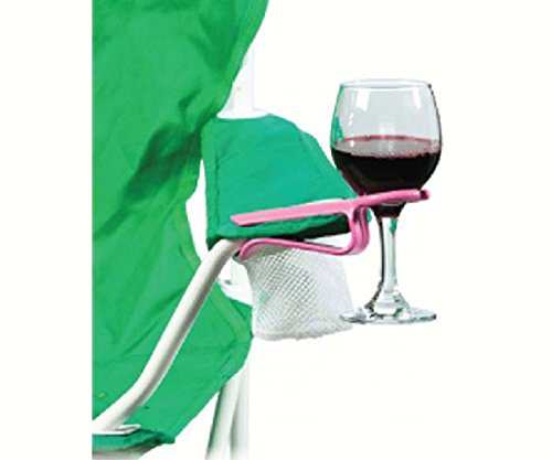 Wine Glass Holder for a Chair - the Wine Hook Pink
