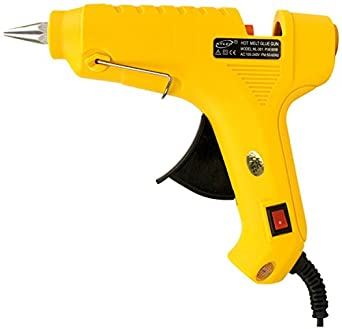 billionBAG Glue Gun 60 Watt Hot Melt Electronic Glue Gun, High Tech Heating Technology, for Art Craft/DIY/Woods/Paper/Cloth/Science Projects/School Projects (Yellow)
