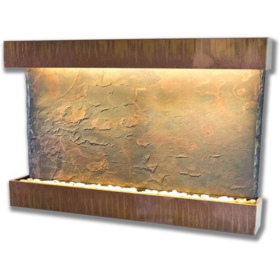 Horizon Copper Fountain (Water Wonders Horizon Falls Wall Fountain Size Large Color Copper Patina)