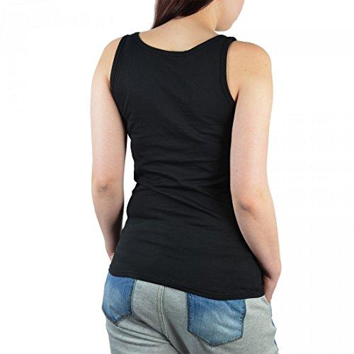 Neon Damen Tank-Top Shirt - Bunter Hund - Pitbull Herzensbrecher - Tank-Top Shirt mit Motiv als tolle Geschenk Idee Aufdruck Hundefreunde