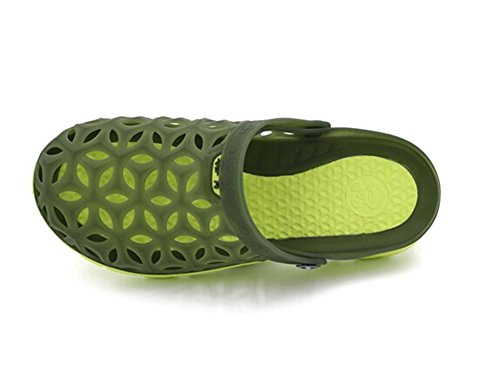 Fansela(TM) Unisex Couples Nest Jelly TPU Sandals Shoes mDark Blue Size 10 by Fansela (Image #4)