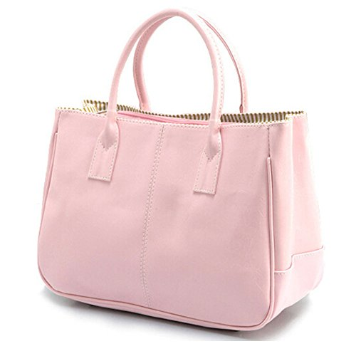 Simple Ladies Handbag Top Pink Shoulder Bag Business Womens DELEY Office Handle Design Fashion zx0EUwqa