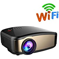 Wireless Display Projector, BOSCHENG LCD Mini WiFi Projector Video Projector with HDMI VGA USB AV Port For Home Theatre Entertaiment