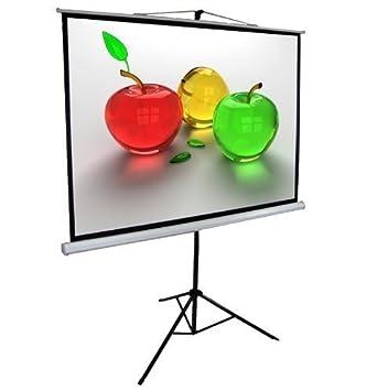 304.8cm trípode proyección pantalla de proyector 4:3 Blanco Mate ...