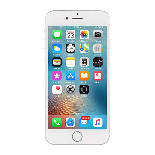 Apple iPhone 6S, Fully Unlocked, 16GB - Silver (Renewed)