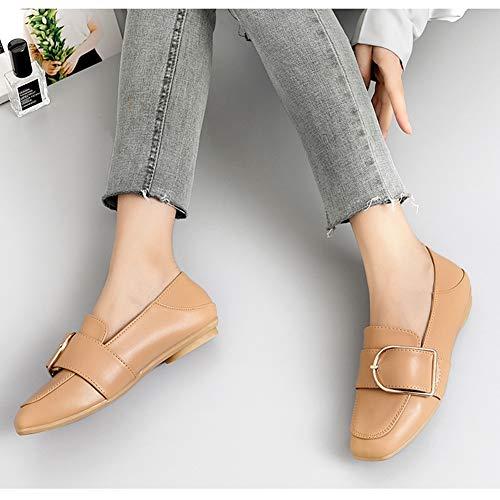 Femmes couleur Chaussures Hwf 36 Conduite Mocassins Mode Cuir Noir Femme Taille Plates Brown En Confortable De rttqPU