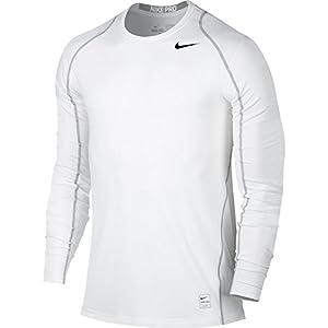 NIKE Men's Pro Cool Top White/Matte Silver/Black Size X-Large