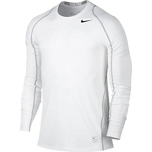 NIKE Mens Pro Cool Top White/Matte Silver/Black Size Large