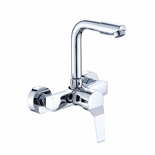 AWXJX Sink Taps Into the wall copper Hot and cold kitchen balcony Laundry pool Rotating Mop pool