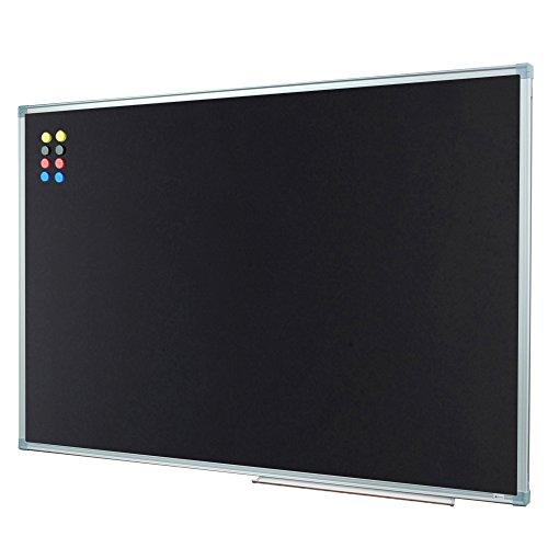 Lockways Magnetic Chalkboard 36 X 24 Black Board - Bulletin Magnetic Blackboard 3 x 2, Silver Aluminium Frame U10732762603 for Home, School, Office, 1 Aluminum Marker Tray, 8 Magnets by Lockways