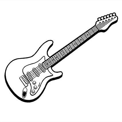 Lvabc Música Arte Diseño Etiqueta De La Pared Etiqueta De La Pared Guitarra Eléctrica Hermosa Tatuajes