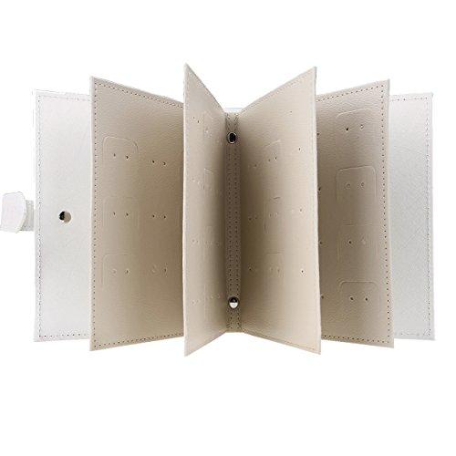 Earrings Organizer Book, WarmHut Small Portable Travel Jewelry Earrings