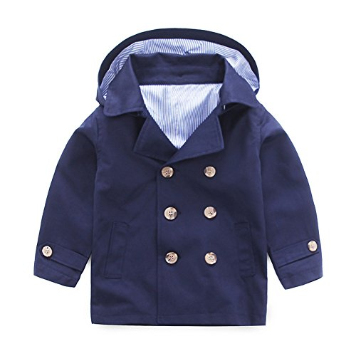 Double Breast Trench Coat - 5