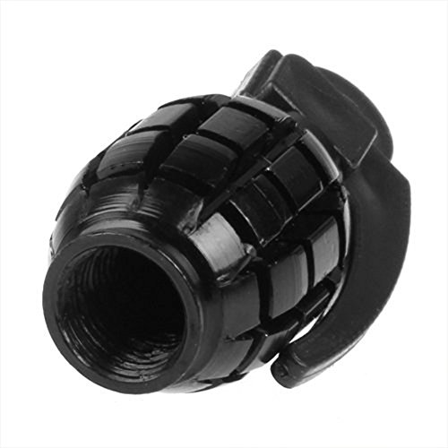 Outfun お買い得 耐久性 自転車 タイヤバルブキャップ エアバルブキャップ 手榴弾形