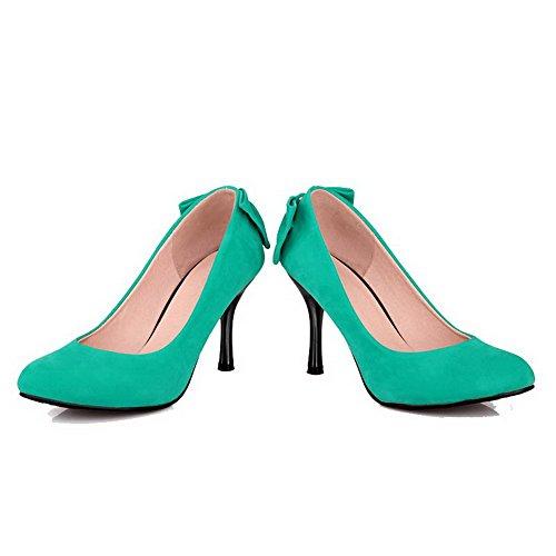 Scarpe Da Donna Allhqfashion Solide Punte A Punta Smerigliata Tirano Su Scarpe A Punta Chiuse Scarpe-verde