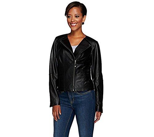 Liz Claiborne Black Leather (Liz Claiborne NY Heritage Collection Leather Jacket Zipper Black 6 New A266177)
