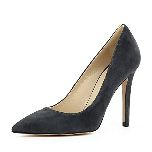 Evita Shoes Alina Damen Pumps Rauleder Grau