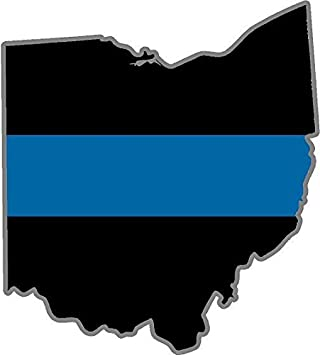 """5/"""" OH Ohio State Thin Blue Line Police Sheriff SWAT Sticker Law Enforcement"""