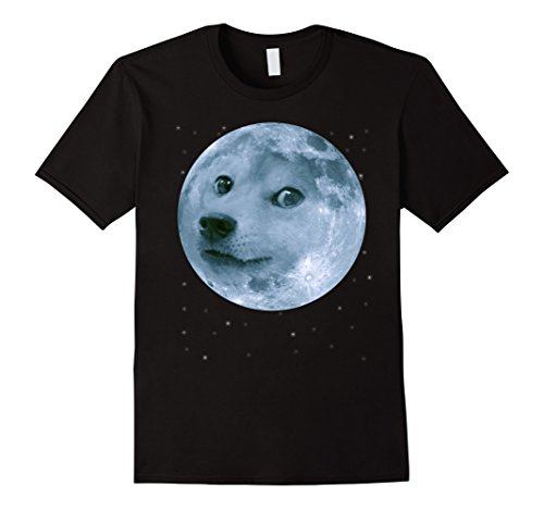 Men's Moon Doge In Space – Funny Meme T-Shirt For Men / Women XL Black